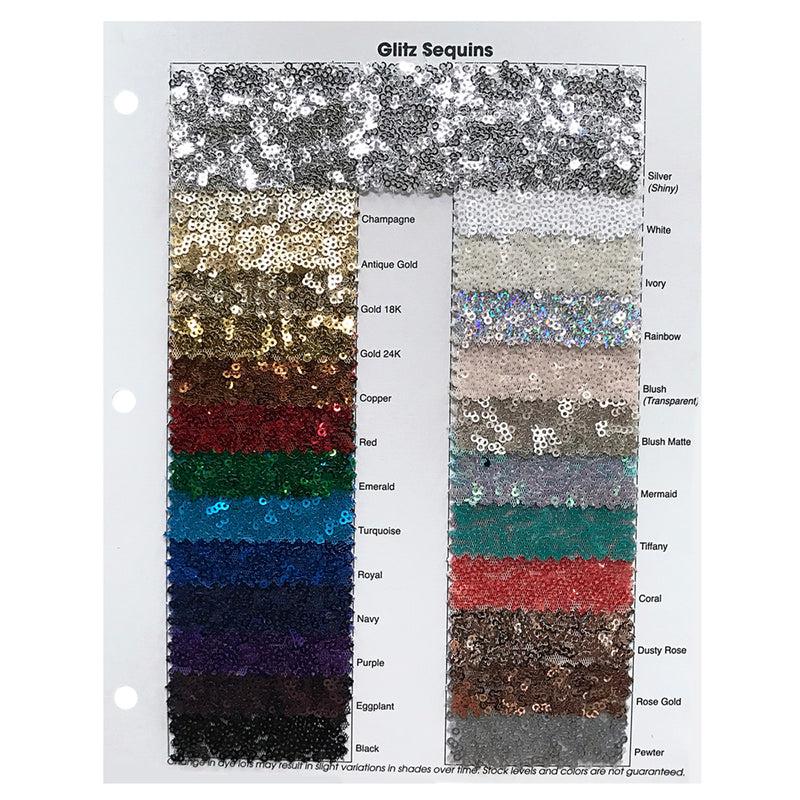 Glitz Sequins (w/ Poly Lining) Table Napkin in Pewter