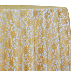 Classic Lace Table Linen in Gold 1700
