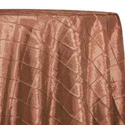 "2"" Pintuck Taffeta Table Linens in Gold 008"