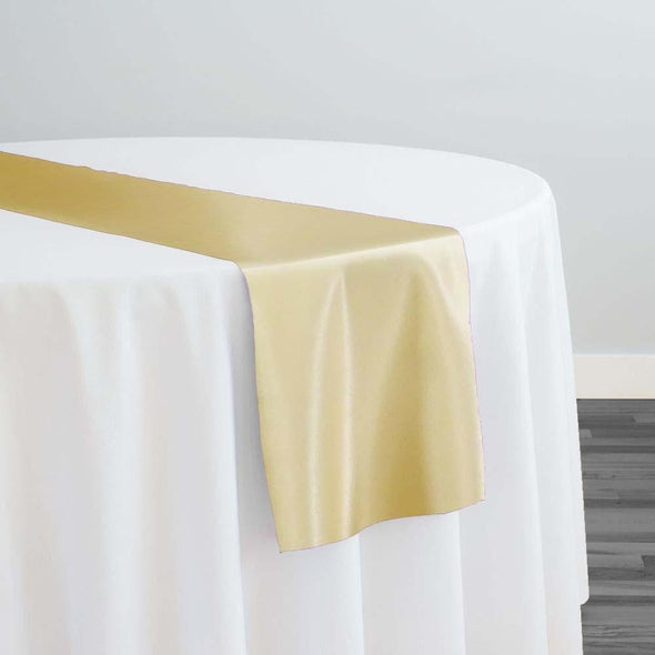 Lamour (Dull) Satin Table Runner in Gold 1326