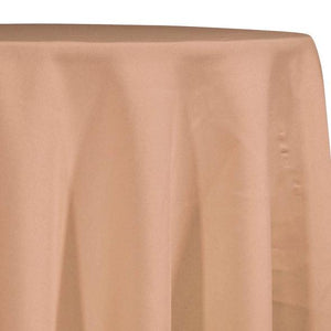Rose Gold Tablecloth in Polyester for Weddings