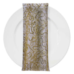 Bedazzle (w/ Poly Lining) Table Napkin in Gold 18K