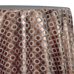 Mosaic Jacquard (Reversible) Table Linen in Copper and Gold