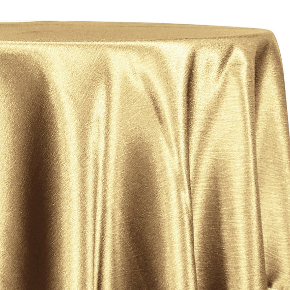 Luxury Satin Table Linen in Gold