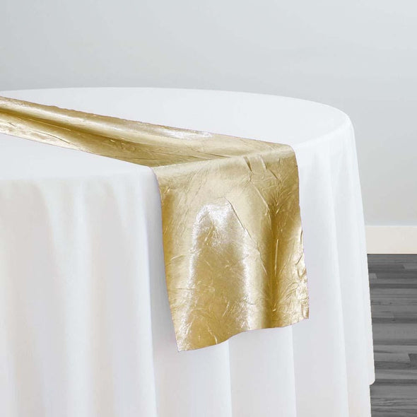 Crush Satin (Bichon) Table Runner in Gold 901