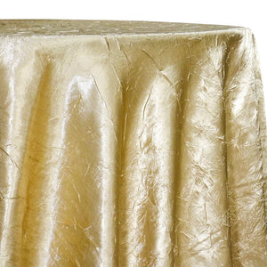 Crush Satin (Bichon) Table Linen in Gold 901