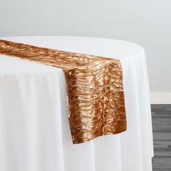 Austrian Wave Satin Table Runner in Gold 902
