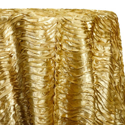 Austrian Wave Satin Table Linen in Gold 902