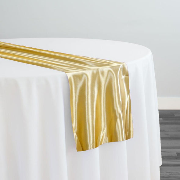 Bridal Satin Table Runner in Gold 902