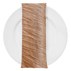Accordion Taffeta Table Napkin in Gold 92