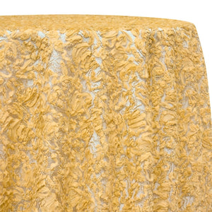 Patina Sheer Table Linen in Gold