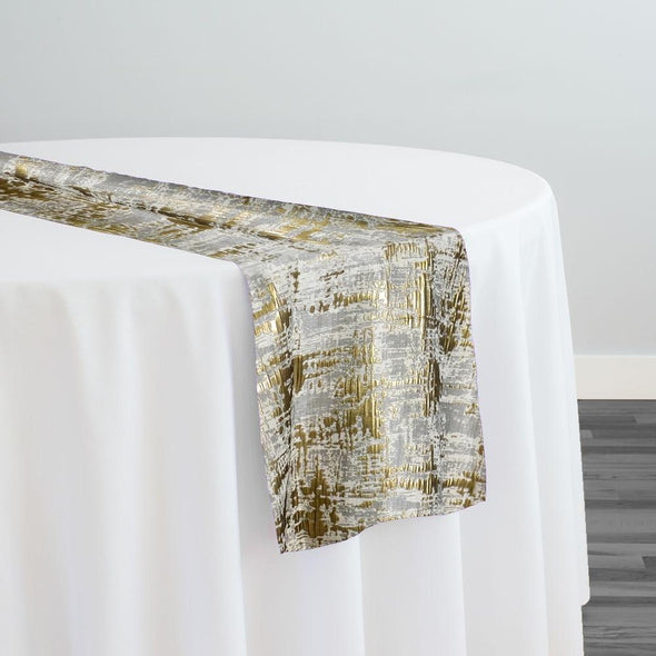 Calypso Jacquard (Reversible) Table Runner in Gold