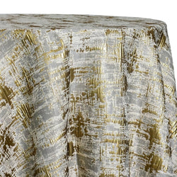 Calypso Jacquard (Reversible) Table Linen in Gold