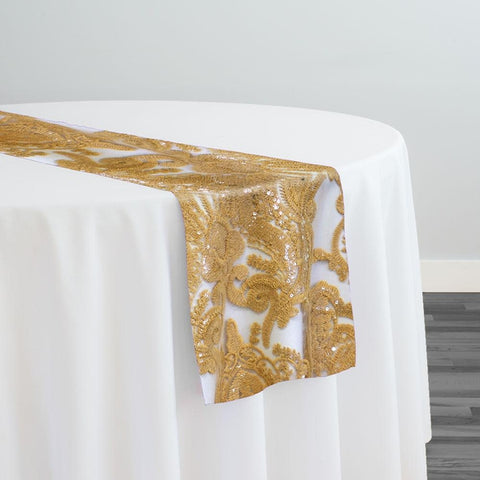 Princess Lace Table Runner in Gold