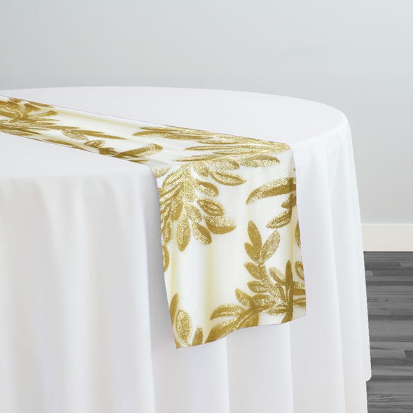 Giselle Sequins Table Runner in Gold