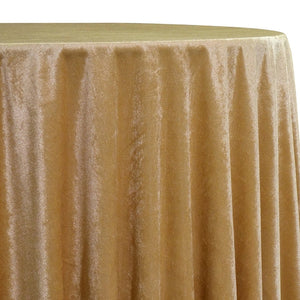 Lush Velvet Table Linen in Gold
