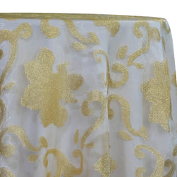 Fleur De Lis Table Linen in Gold
