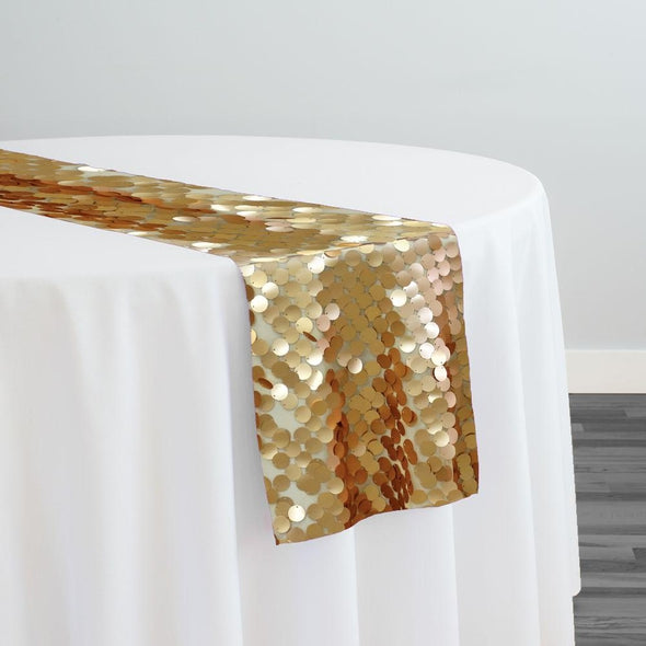 Payette Sequins Table Runner in Gold