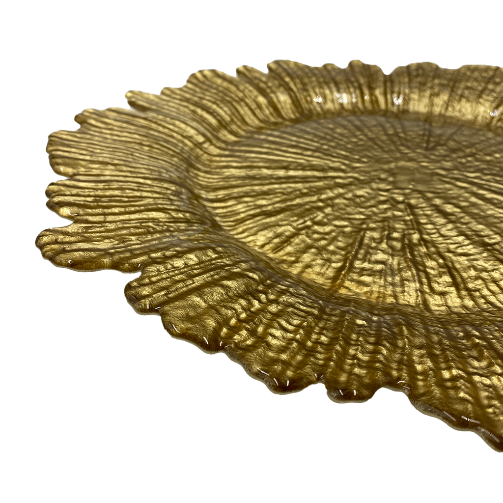 Reef - Glass Charger Plate in Gold