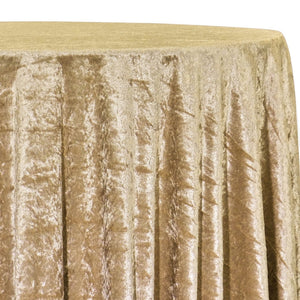 Panne (Crush) Velvet Table Linen in Gold