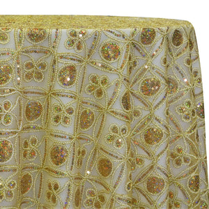 Skylar Sequins Table Linen in Gold