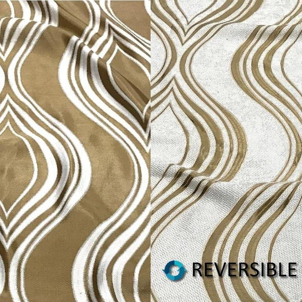 Eclipse Jacquard (double-sided) Wholesale Fabric in Gold