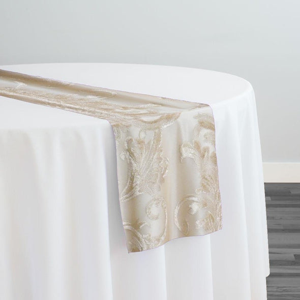 Florence Jacquard Table Runner in Gold