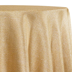 Metallic Burlap (100% Polyester) Table Linen in Gold