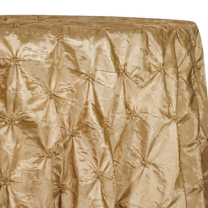 Belly Button (Pinwheel) Table Linen in Gold