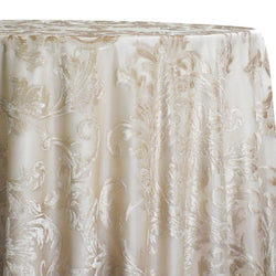 Florence Jacquard Table Linen in Gold