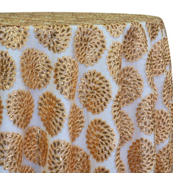 Dahlia Sequins Table Linen in Gold