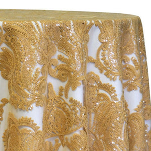 Princess Lace Table Linen in Gold