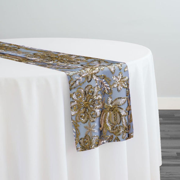 Starlight Sequins Table Runner in Gold