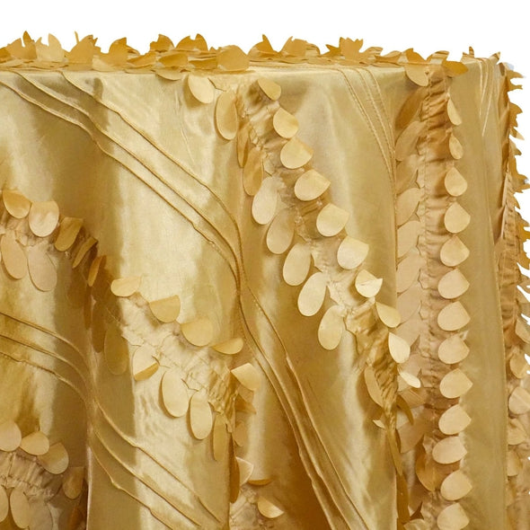 Diagonal Taffeta Table Linen in Gold