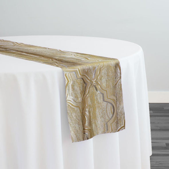 Bentley Jacquard Table Runner in Gold