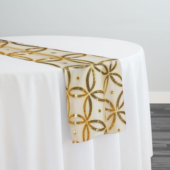 Delano Sequins Table Runner in Gold