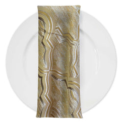 Bentley Jacquard Table Napkin in Gold