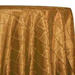 "2"" Pintuck Taffeta Table Linens in Gold"