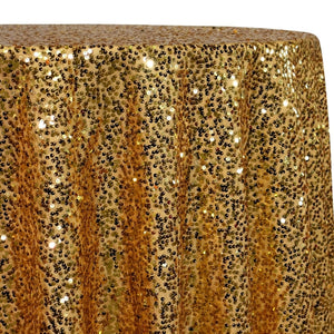 Taffeta Sequins Table Linen in Gold