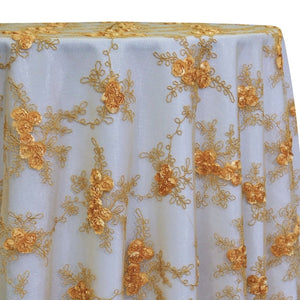 Baby Rose Embroidery Table Linen in Gold