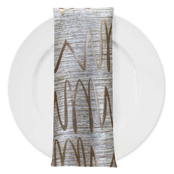 Zion Jacquard Table Napkin in Gold