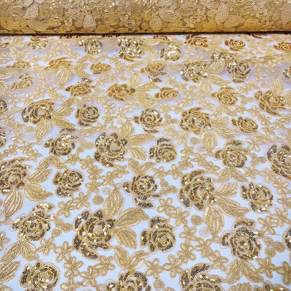 Valentina Lace Wholesale Fabric in Gold
