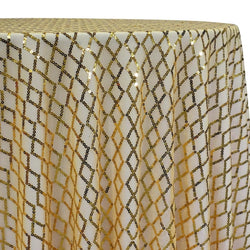 Vortex Sequins Table Linen in Gold