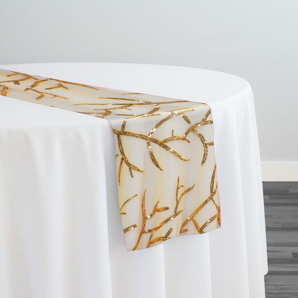 Brooks Sequins Table Runner in Gold