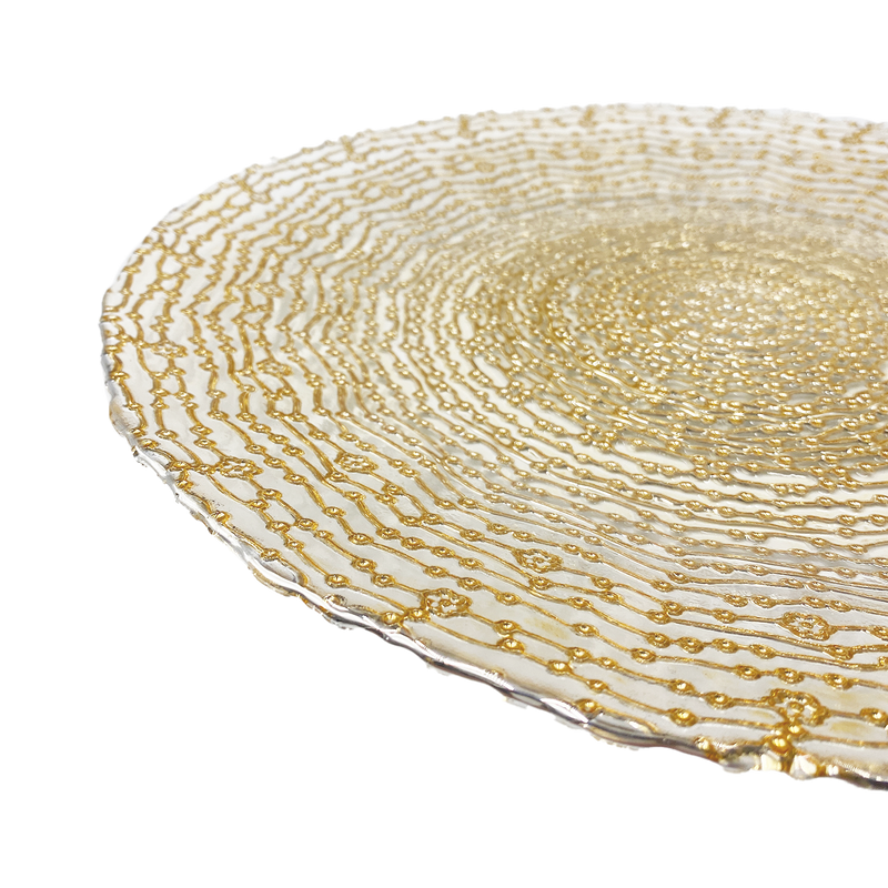 Webbed - Glass Charger Plate in Gold