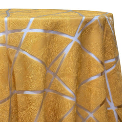 Atlas Sheer Table Linen in Gold