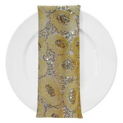 Sienna Design (w/ Poly Lining) Table Napkin in Gold
