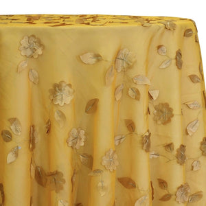Lily Petal Table Linen in Gold