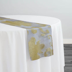 Fleur De Lis Table Runner in Gold