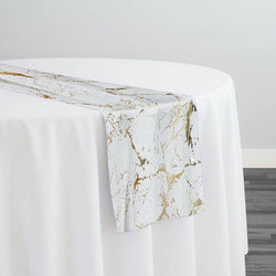 Marble Jacquard Table Runner in Gold